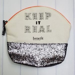 "Benefit mini ""Keep it Real"" makeup bag"